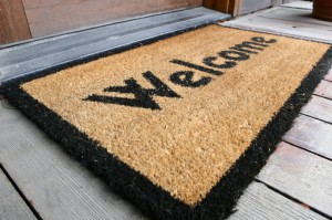 welcome door mat